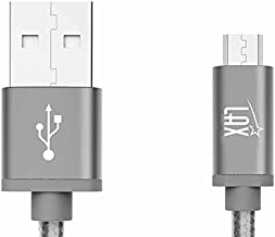 LAX Gadgets Durable Nylon Braided Tangle Free 2.0 Micro USB Android Charging and Data Sync Cable for Samsung, HTC, Motorola, Nokia, Kindle, MP3, Tablet and More[10 Feet-Gray]