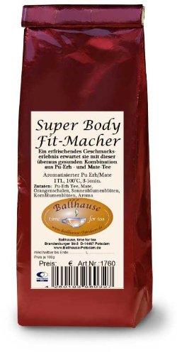 Super-Body-Fit-Macher, Pu Erh / Mate Tee;