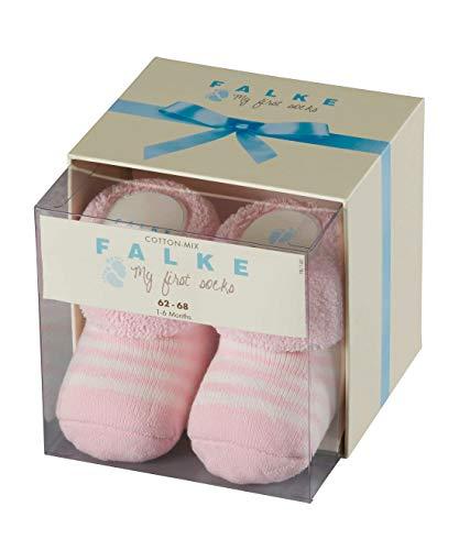 FALKE Baby Socken Erstlingsringel - 89% Baumwolle, 1 Paar, Blau (Powder Rose 8900), Größe: 62-68