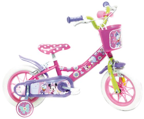Disney 13126 Minnie-Bicicleta 12'', Multicolore,