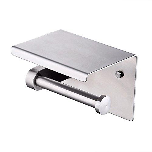 KES Porta Carta Igienica Dispenser Asciugamani Bagno Montaggio a Parete,SUS 304 Acciaio INOX,Spazzolato,BPH201S1-2