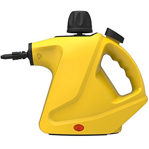 GUORZOM Hand Dampfreiniger Home Große Kapazität Druckdampfreiniger Mit 9-Teiligen Zubehör Für Fleckenentfernung Teppiche Vorhänge Bett Bug Control Autositze, Gelb