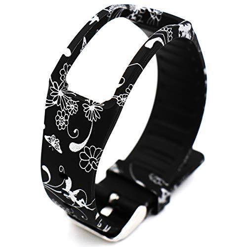 Woodln Ersatzband Armband Zubehör für Samsung Galaxy Gear fit R350 Smartwatch (New Sliver Grass)