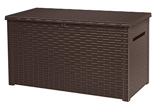 cheap KETER Java XXL 230 gallon exterior Large storage box for garden furniture with rattan effect …