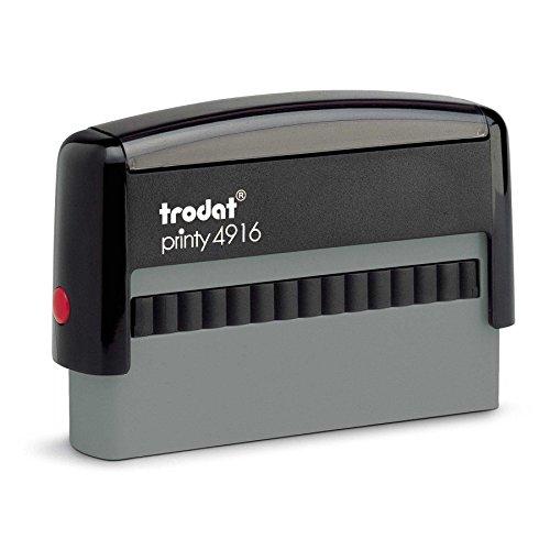 Trodat Printy 4916 Personalized Individual Custom Self Inking Stamp (3/8' x 2-3/4')