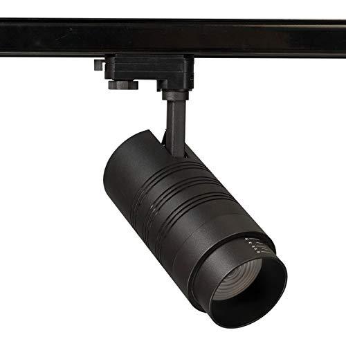 Foco LED para Track Light (30 W, 3 fases, luz blanca neutra, 4000 K), color negro