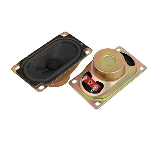 X-DREE 2 Pcs 8 Ohm 5Watt Metal Shell Altavoz magnético interno para TV LCD Monitor (2 pièces 8 Ohm 5Watt Haut-parleur magnétique interne Shell en métal pour moniteur LCD TV