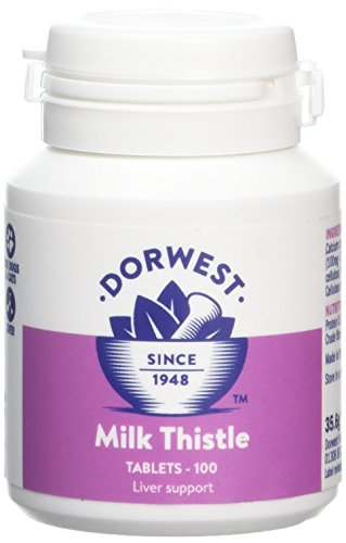 Dorwest Herbs Milk Thistle Tablets for Dogs and Cats 100 Tablets