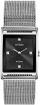 Citizen Eco-Drive Axiom Quartz Unisex Watch, Stainless Steel, Diamond, Silver-Tone (Model: BL6000-55E)