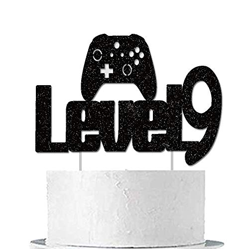 Video Game Cake Topper Level Up 9th Birthday Cake Decoration