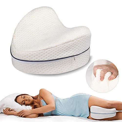 Dioxide Leg Pillow Morbido Cuscino Memory Foam per Gambe Aiuto Posizione Corretta per Dormire Contro Mal di Schiena e Problemi Posturali