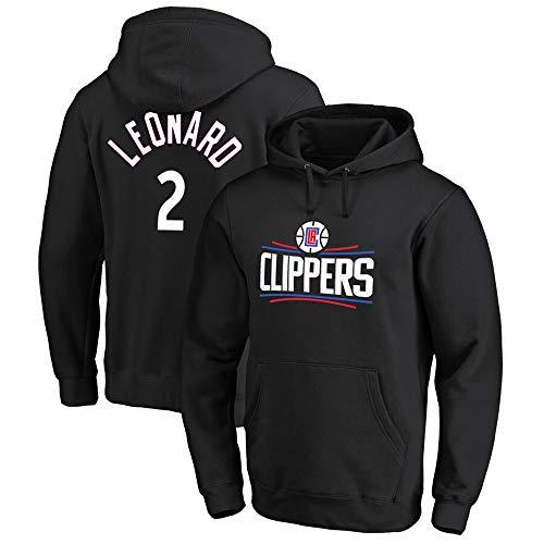 Sudadera para Hombre Fans De La NBA Jersey MVP Los Angeles Clippers Kawaii Leonard Sudadera con Capucha con Cordón Mangas Largas Casual Cómodo Jersey S-XXXL Verde Black-L