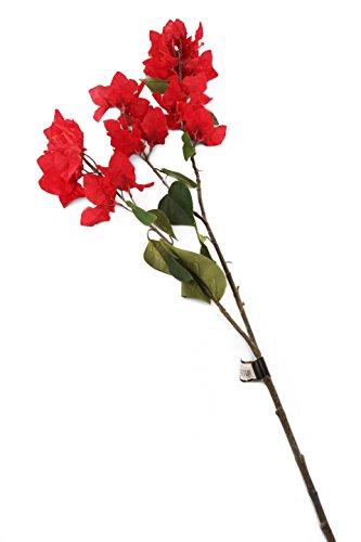 Floral Elegance F077RL - 1 Bougainviller artificiel rouge de 107 cm