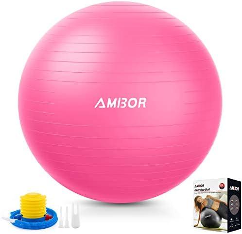 Exercise Ball 65 75CM AMBOR Extra Thick Anti Burst Non Slip Stability Balance Yoga Ball for product image