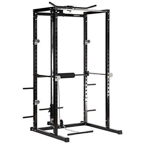 Mirafit Power Rack Workout Cage & Cable System - Black or Silver