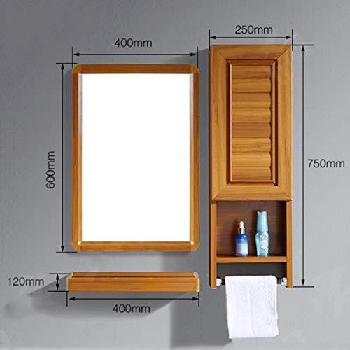 QXHELI Spiegels Spiegels - eenvoudige moderne ruimte van de aluminium badkamer opbergkast muur thuis afhankelijk wastafel toilet handdoek rek spiegel lager op een plank welkom (kleur: (a)