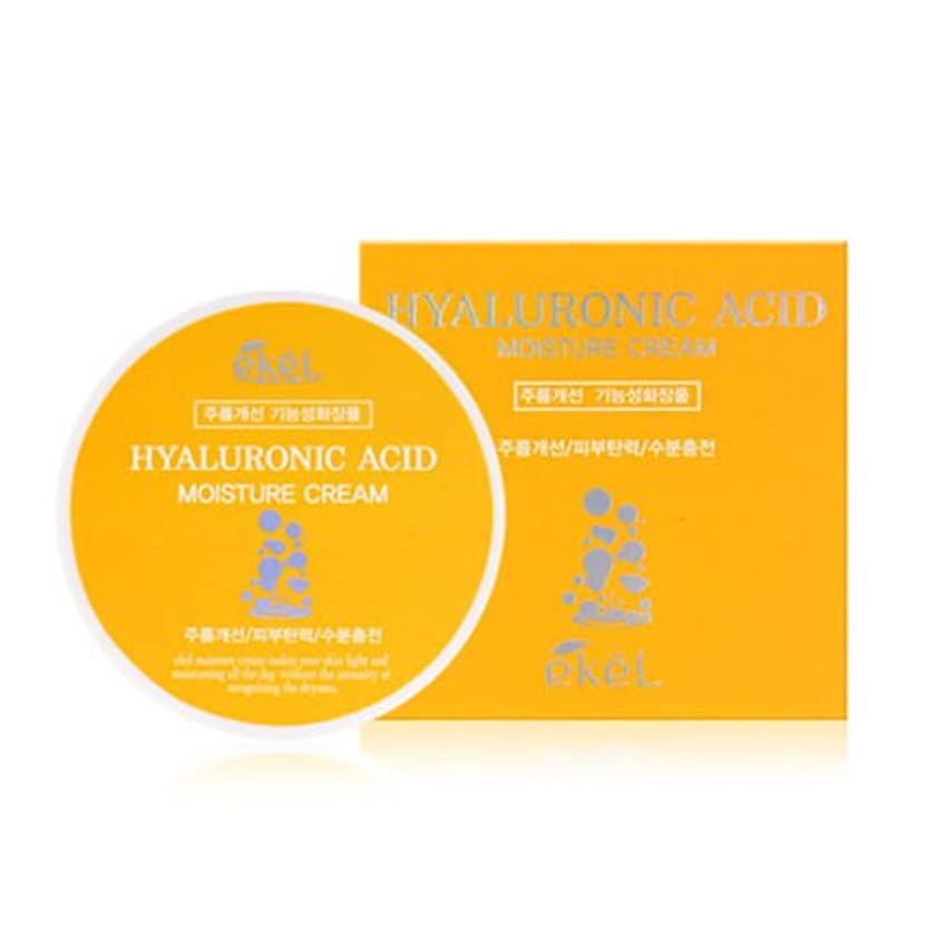 許される宿判定イケル[韓国コスメEkel]Hyaluronic acid Moisture Cream ヒアルロン酸モイスチャークリーム100g [並行輸入品]
