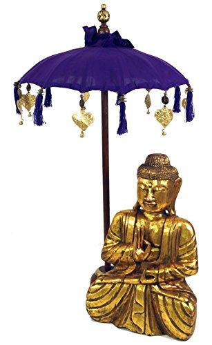Guru-Shop Ceremoniële Paraplu, Aziatische Decoratieve Paraplu Medium - Violet, 92x50 cm, Paraplu`s