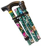 Canne de marche flexible, réglable en hauteur, pliable et extensible pour unisexe