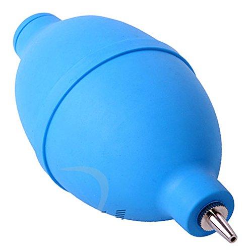 Acenix®, pompa ad aria per la pulizia dell'obiettivo della fotocamera, in gomma di forma ovale, con ugello in metallo e ugello per la fotocamera, per la tastiera, l'orologio e la polvere