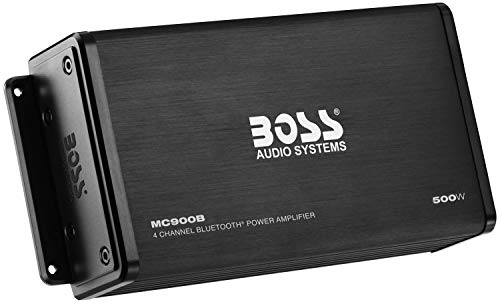 BOSS Audio Systems MC900B 500 Watt, 4 Channel, All-Terrain, Weather Resistant Amplifier System with Bluetooth Multifunction Remote