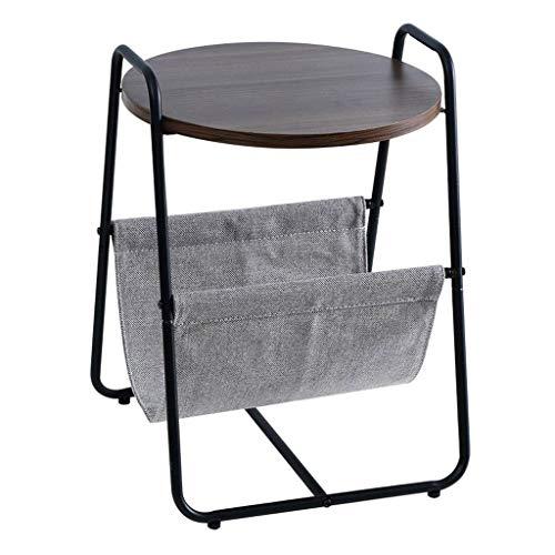 Huahua stoel bijzettafel verwijderbare nachtkastje ronde salontafel metalen frame nachtkastje met opbergtas woonkamer bank eindtafel