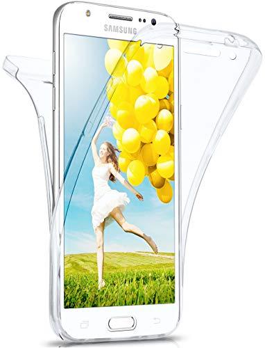 moex Double Hülle für Samsung Galaxy Note 3 - Hülle mit 360 Grad Schutz, Silikon Schutzhülle, vorne & hinten transparent, Clear Cover - Klar