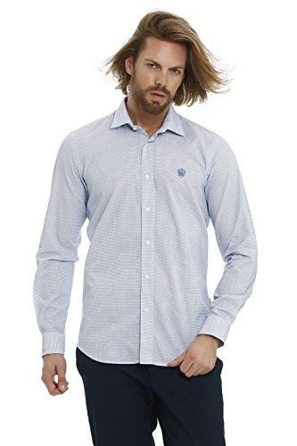 GALVANNI Salamatof Camisa Casual, Azul (Turkish Sea Multi Striped 5158), XX-Large (Tamaño del Fabricante:XXL) para Hombre