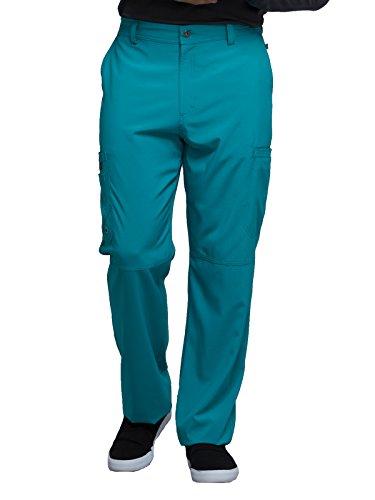 CHEROKEE Infinity Men Men's Fly Front Pant, CK200A, XL, Teal Blue