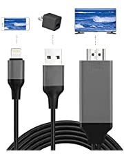 【Lnicez令和2021最新版】Lightning HDMI iphone HDMI変換 ケーブル iPhone/iPad/iPodをテレビ出力 ライトニング HDMI接続 アダプター 最新iOS14対応