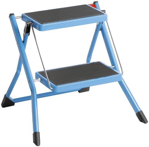 Hailo 4310-301 Marchepied Pliant Mini - 2 Marches - Bleu