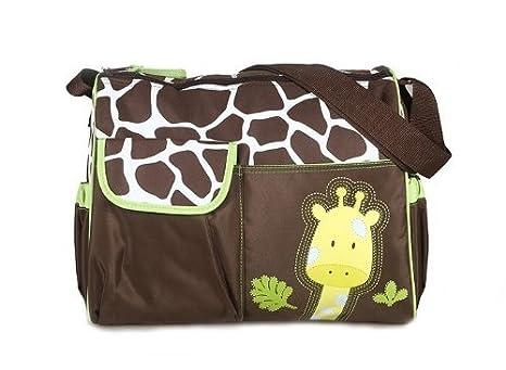 Baby Bucket Baby Diaper Nappy Changing Baby Diaper Bag/Baby Bag/Mummy Bag/Handbag (Green Giraffe)