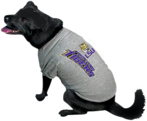 NCAA Popular shop is the lowest price challenge LSU Tigers Max 77% OFF Ash Small T-Shirt Pet Logo