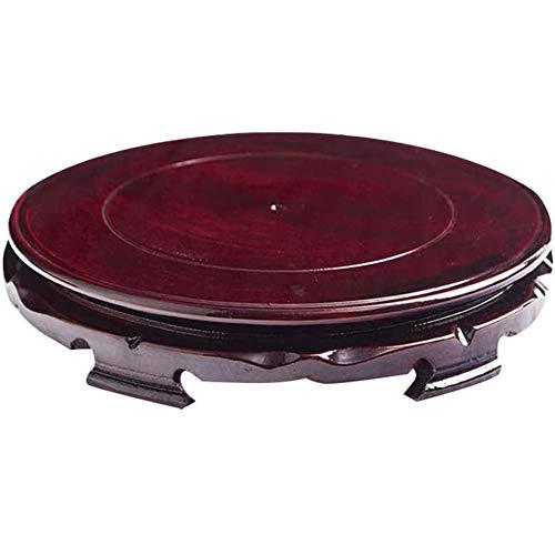 Round Wood Base Bloempot Lekbak Bloempot Saucer Voor Vlezigheid Planter Tuin Balkon Vase Flower Pot Fish Tank Tray,Purple,12cm