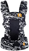 Baby Tula Coast Explore Mesh Baby Carrier 7 – 45 lb, Adjustable Newborn to Toddler Carrier, Multiple Ergonomic Positions Front and Back, Breathable – Coast Marble, Black/White Marble with Black Mesh
