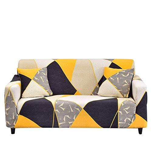 Jonist Funda de sofá Estampada, 1 Pieza de Fundas de sofá elásticas de poliéster y Licra, Protector Universal para Muebles con 2 Fundas de Almohada, 47-2 Asientos (55'-71')