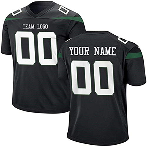 UIOP Custom All Teams Fashion Style Design Football Jerseys Personalized Any Name and Number Jerseys Mens Womens Youth (New York Jet)