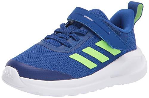 adidas Kids Fortarun Elastic Cross Trainer, Collegiate Royal/Signal Green/White, 9 US Unisex Toddler