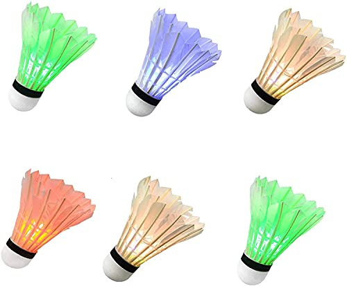 LED Badminton Light UP Shuttlecock Plastic Glow Birdies for Night Sport
