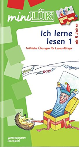 miniLÜK: Ich lerne lesen 1: Fröhliche Übungen für Leseanfänger für Kinder von 5 - 7 Jahren