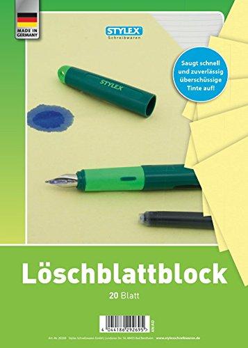 Stylex Löschblattblock, 20 Blatt (2er Set, DIN A4 + A5)