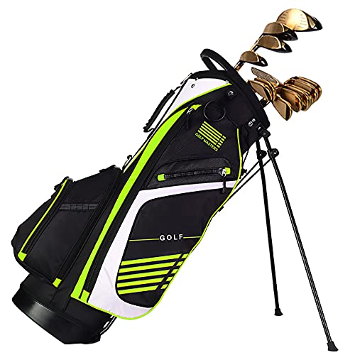 Golf Stand Bag for Men & Women, Golf Carry Bag with 14 Way Divider Carry Organizer Pockets Storage, Waterproof Durable Golf Travel Bag