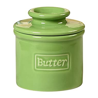 The Original Butter Bell Crock by L. Tremain, Cafe Retro Collection - Lime Green