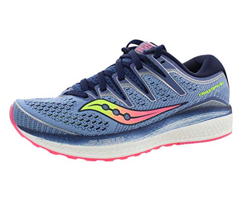 Saucony Women's Triumph ISO 5 Running Shoe, Blue/Navy, 9 W...