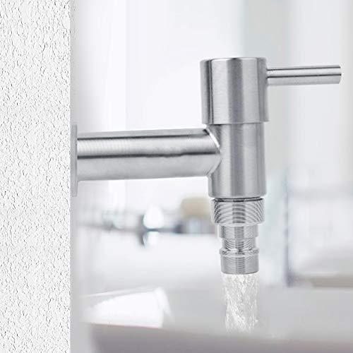 Torneira de filtro de água, torneira de água fria, aço inoxidável para máquina de lavar roupa Home Mop Pool Hotel