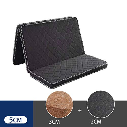 Save %41 Now! LoveHouse Tri-fold Coir Mattress, Thick 3e Coconut Fiber Mattress Pad Orthopedic Sleep...