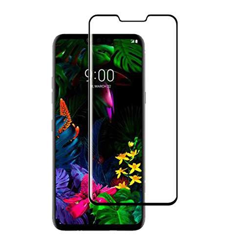 QULLOO für LG G8 ThinQ Panzerglas Bildschirmschutzfolie, 3D Curved Full Cover Tempered Glas Schutzglas Anti-Kratzen Panzerglasfolie, LG G8 ThinQ Hartglas Schutzfolie