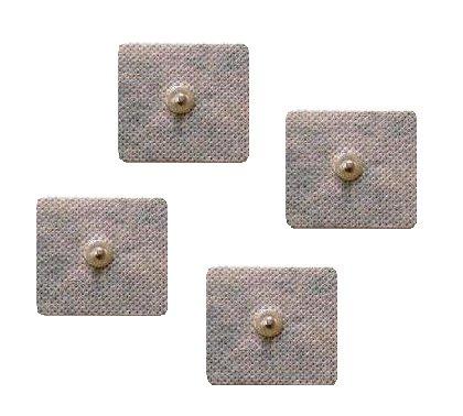 4 Elettrodi adesivi quadrati 4x4cm con clip standard 4mm