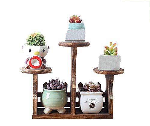 AJZGFStand d'extérieur pour plantes d'intérieur Fleur de bureau en bois massif stand intérieur et extérieur salon mini bureau plante pot rack