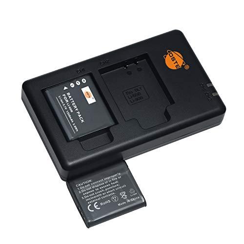 LI-60B - Batería de repuesto y cargador dual compatible con Olympus FE-370,Pentax D-LI78,Optio L50,M60,S1,V20,W60,W80,Nikon EN-EL11,Coolpix S560,Ricoh DB-80,Sanyo DB-L70 (2 unidades)